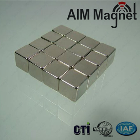 N35 Zn plated 20x20x1mm Neodymium Magnets