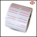 Printed With 2 Lines Self Adhesive Roll Sticker Tag/Label