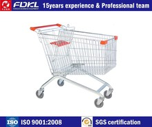 Custom Design Powder coating folding wheeled rolling shopping trolley cart bag