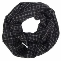 Fashion patchwork viscose checked infinity scarf