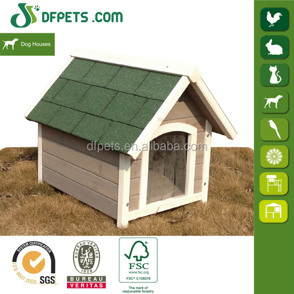 DFPets DFD014 Prefab Cute Wooden Dog Kennel
