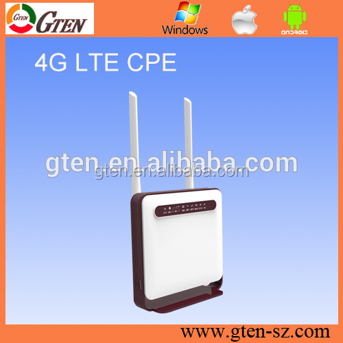 Portable outdoor CPE 4g lte wireless router Support 6DBI external antenna
