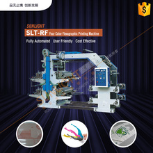 SLT-RF four color full-automatic narrow web flexible printing machine price with best price