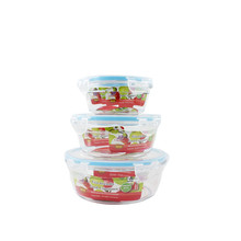 3pc Houseware Plastic Food Storage Lid Container with Sealed