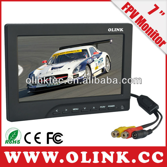 Olink 5, <strong>7</strong>, 8, 10, 12 inch wireless two antenna LCD FPV Monitor for flying plane