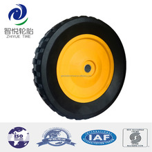 8 inch semi-pneumatic rubber wheels for baby carriage, golf caddy, garden trailer
