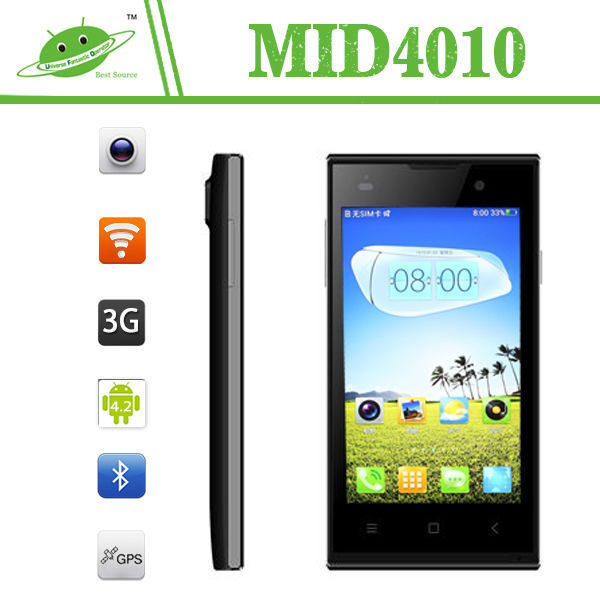 Wholesaler 4 Inch MTK6572M Dual Core 512MB 4G IPS 3G GPS HDMI BT Wifi No Brand Smart Phone
