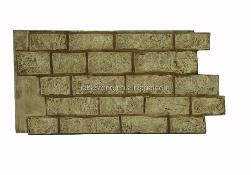 PU Polyurethane faux culture stone wall panel