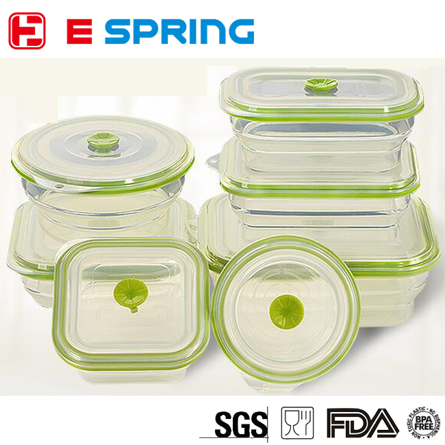 Different Shapes Microwaveable Silicone Food Storage Box