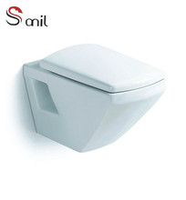 S7572 wall hung type washroom toilet P-trap