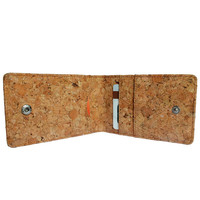 Boshiho soft and durable cork wallet money clip