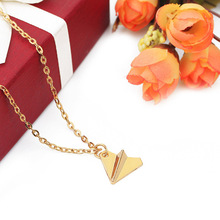 One Direction Tiny Origami Paper Airplane Necklace