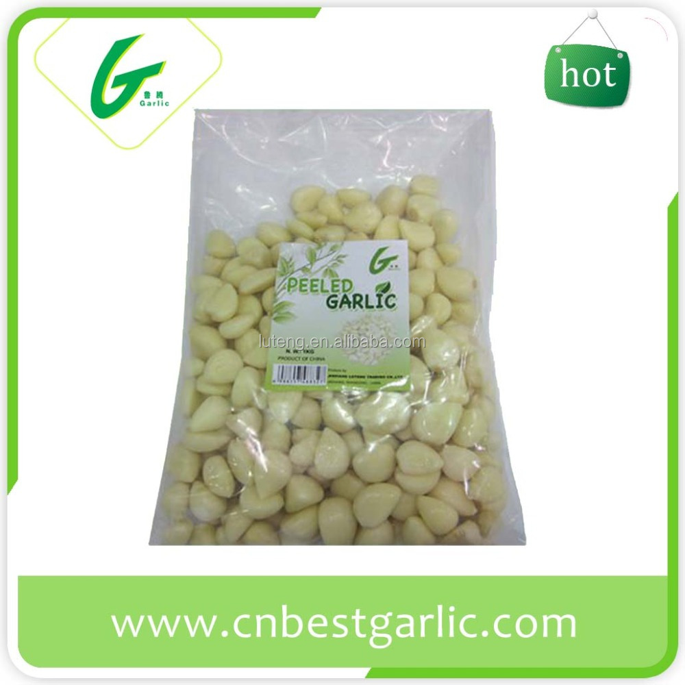 Peeled vacuum packed frozen garlic cloves