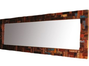 Wall Mirror with Patchwork Style