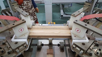 Wood picture frame making machine with high frequency