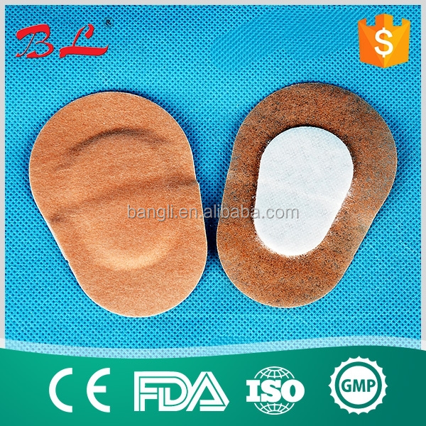 sterile medical absorbent wound dressing plaster oval eye pads