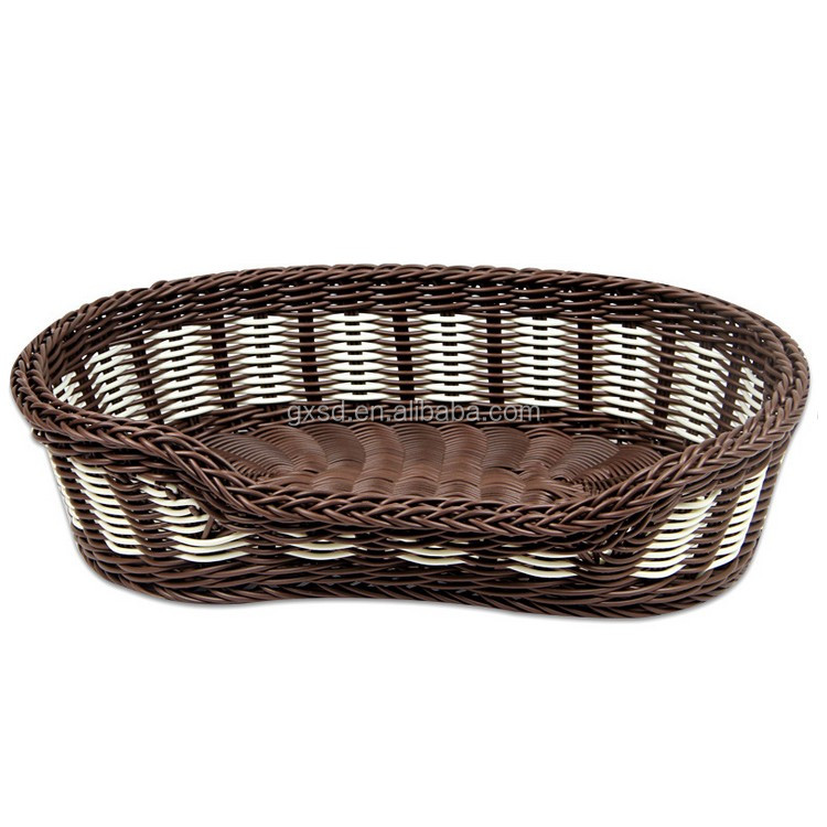 2016 cheap pet accessory custom size wicker hand made pet basket