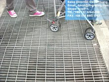 hot dip galvanized walking steel open floor, galvanized walking floor plate