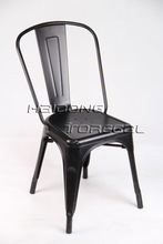 Hot Sale Cheap Price Powder Coating Marais Metal Dining Navy Chair