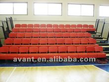 anti-aging,anti-fire retractable permanent folding chair,arena telescopic seating,retractable grandstand for multi-purpose use