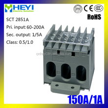 Hot-selling three phase CT SCT 2851A 100A/1A cable or bus-bar three phase current transformer