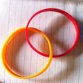 custom double silicone bracelet/silicone hand bands/couple bracelets