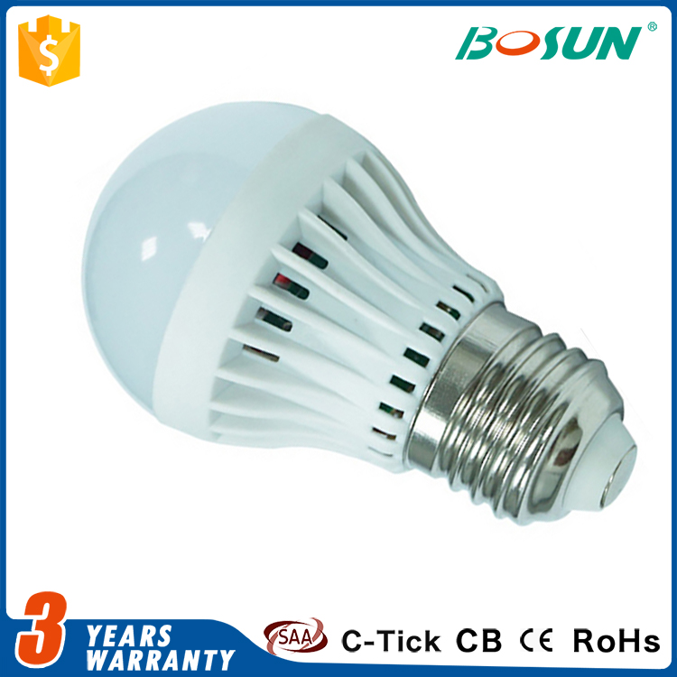 China supplier 3w 5w 7w 9w 12w E27 SMD5730 outdoor motion sensor led bulb