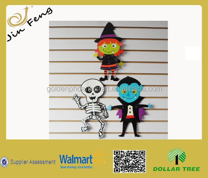 Halloween Smart Joint Paper Cutouts with Activities Eyes