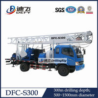 Water well drilling machine DFC-S300 portable truck mounted water well drilling rigs for sale