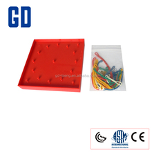12.5cm Square Geoboard/Plastic Geometric Board/Shape and Pattern