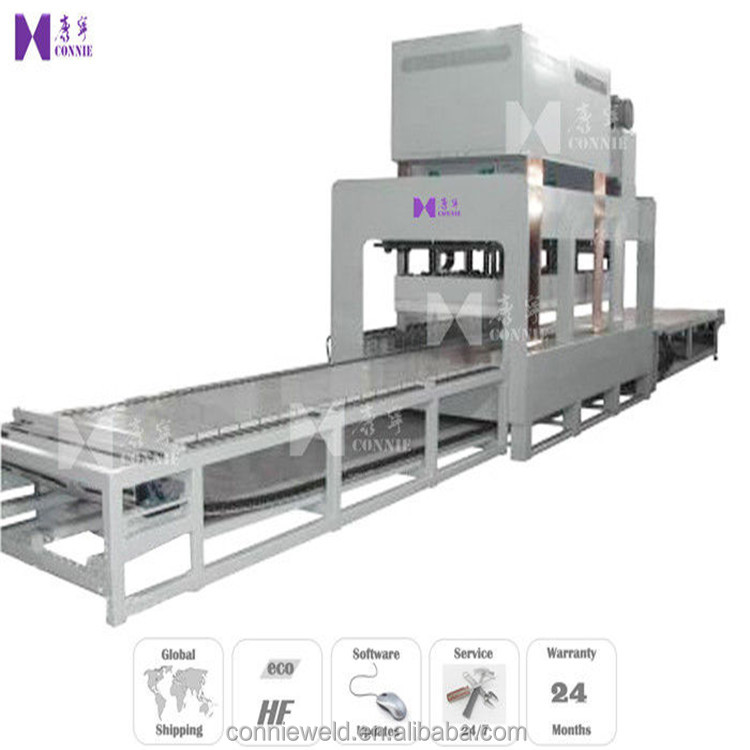 Wood Floor Panel HF Industrial Laminating Machine With Cycle Stabilizer
