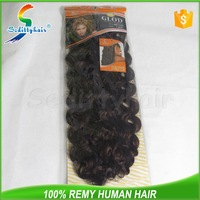 cheap price gray hair synthetic hair deep wave synthetic hair