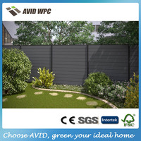 New type and cheap outdoor composite fence panel/wpc garden fence for sale