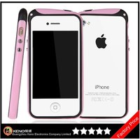 Keno Long Neck Strap Hang Rope Design TPU Hybrid Bumper Shock Absorbent Case for iPhone4 4S