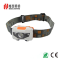 China Ningbo factory sales directly colorful 3xAAA dry battery white+red light LED headlamp