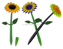 plastic shaped sunflower pen