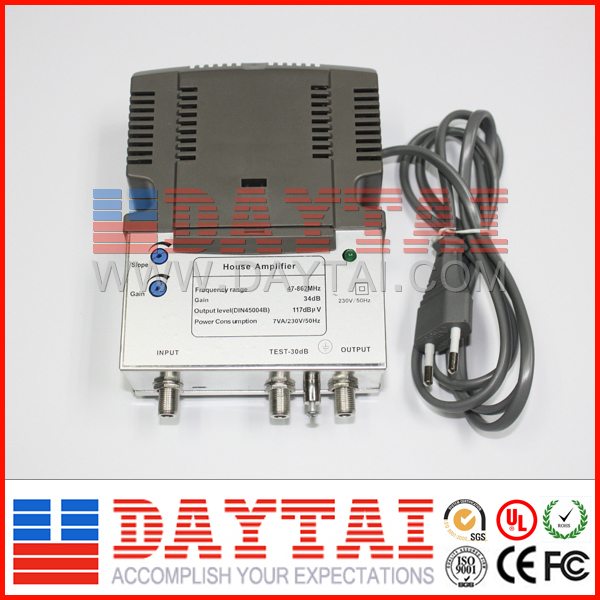 CATV Amplifier / Indoor CATV Signal Amplifier / Bidirectional CATV Distribution Amplifier