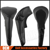 Blank Golf Driver Head Covers, Black Leather