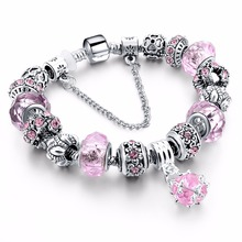 Luxury Silver Charm Murano Bracelet For Women With High Quality European Style bracelet