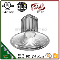 UL DLC SAA 100 Watt 120 Watt 150 Watt 200 Watt 250 Watt 300 Watt Induction Aluminum LED High Bay light Fixture with Lens