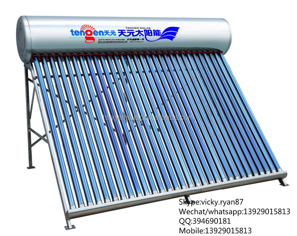 Guangzhou 300L stainless steel Integrated solar hot water heater prices