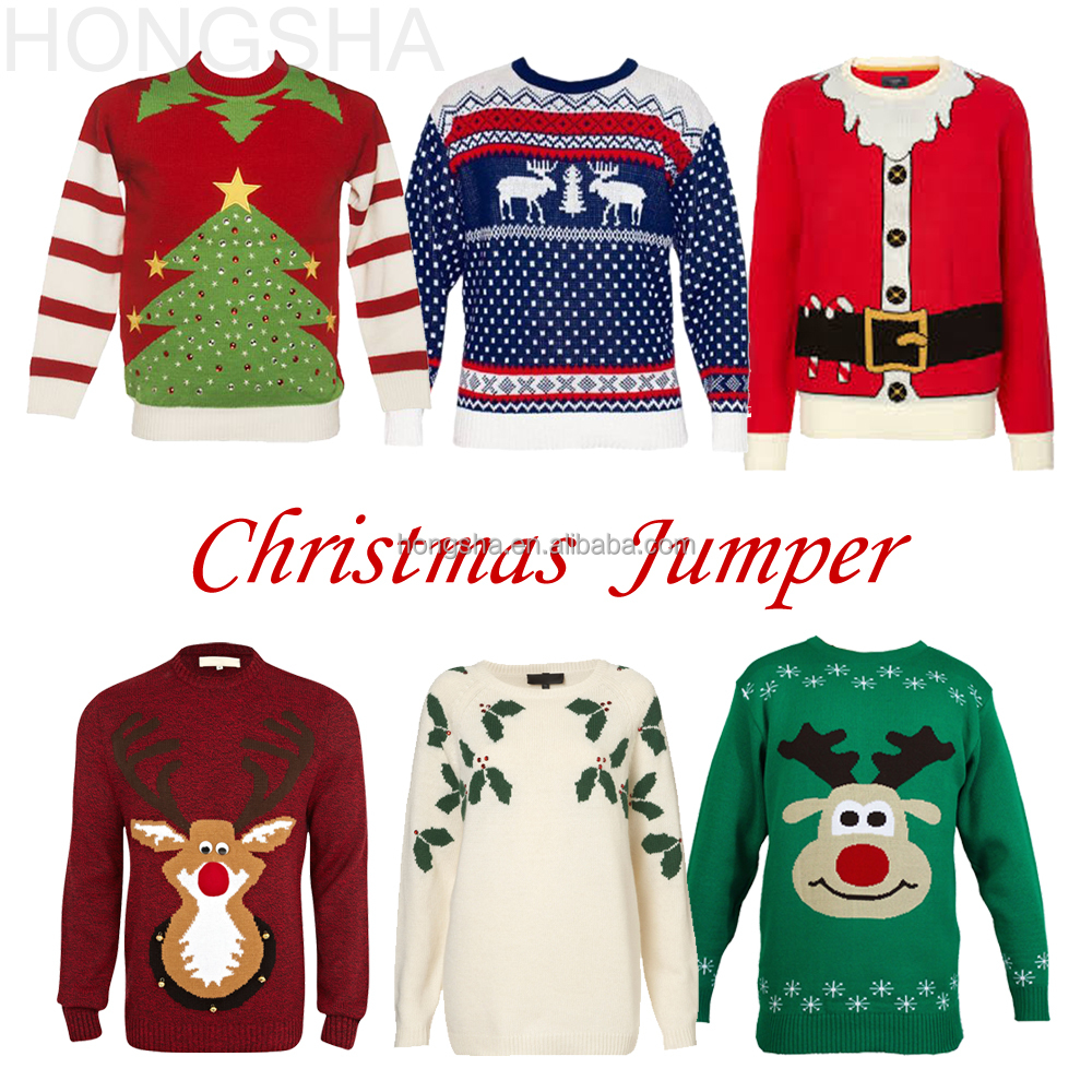 Christmas Sweater Custom Woman Knitted Christmas Jumpers Hss1401 - Buy Christ...