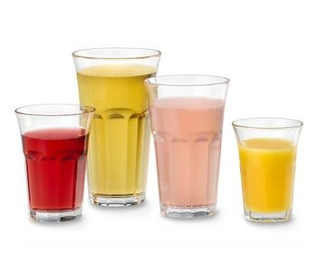 Factory wholesale high quality drinking cup fruit juice glass for soft drinking