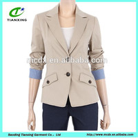 high quality ladies slim blazer jacket