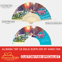 Customise folding paper fan for event