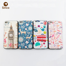 Plain phone cases print wholesale 5.5 inch tpu pc mobile phone case for iphone 8 plus
