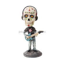 Polyresin Dead Bobble head Musical Instruments Player Figurine