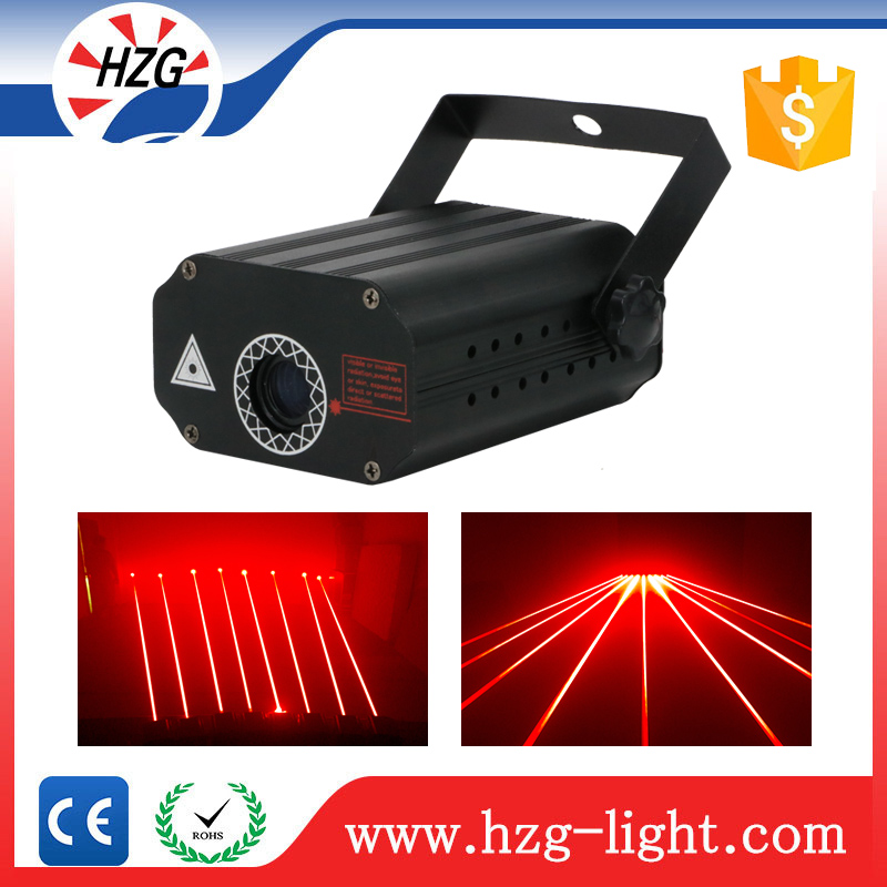 Professional disco dj Mini laser light show projector Red curtain laser stage lighting projector
