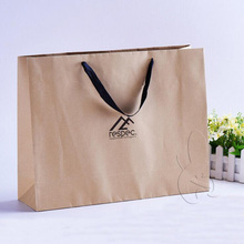 factory Elegant Simple Luxury Brown kraft Paper Bags for garment/hats/shoes/gifts