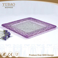 Catering Dinnerware Wholesale Restaurant Glassware , Purple Coloured Glassware , Catering Glassware For Buffet And Party